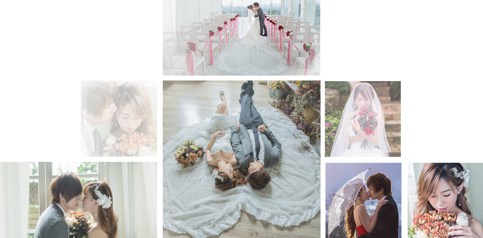a collage of wedding photographs